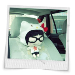 Hello Kitty Car Cushion Headrest White