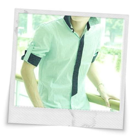 Turn-up Cuff Green Shirt