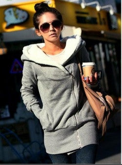Grey Warm Cotton Jumper Coat