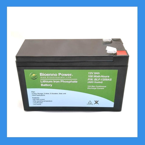 12V, 9Ah LFP Battery (ABS, BLF-1209AS)