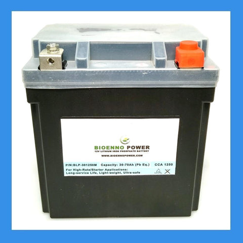 12V, 1250 CCA LFP Starter Battery, (ABS, BLP-301250M)