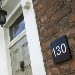 Traditional Steel House Number Plate