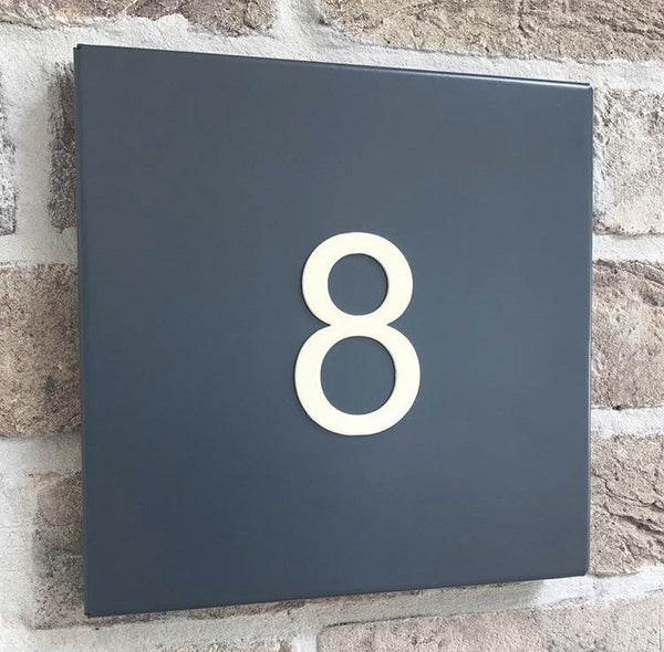 traditional steel house number plate birthday christmas