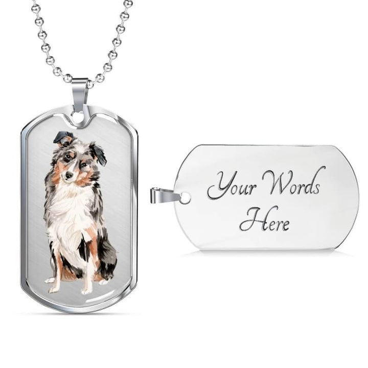 Australian Shepherd Dog Tag Necklace - Doggsociety