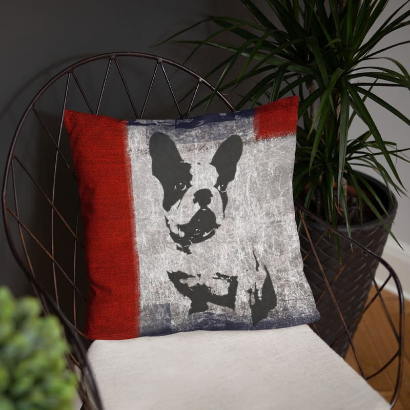 Boston Terrier Art 18x18 Pillow - Doggsociety