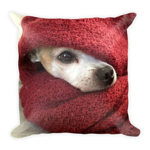 Chihuahua In A Blanket 18x18 Pillow - Doggsociety