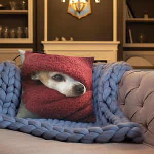 Chihuahua In A Blanket 18x18 Pillow