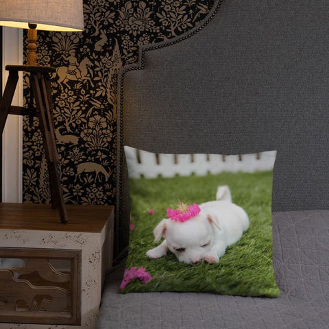 Chihuahua Princess 18x18 Pillow - Doggsociety