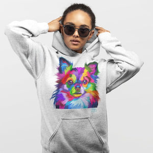 Colorful Chihuahua Pop Art Style Hoodie