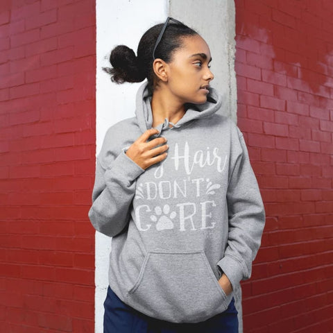 Dog Hair Dont Care Hoodie - Sport Grey / S - Doggsociety