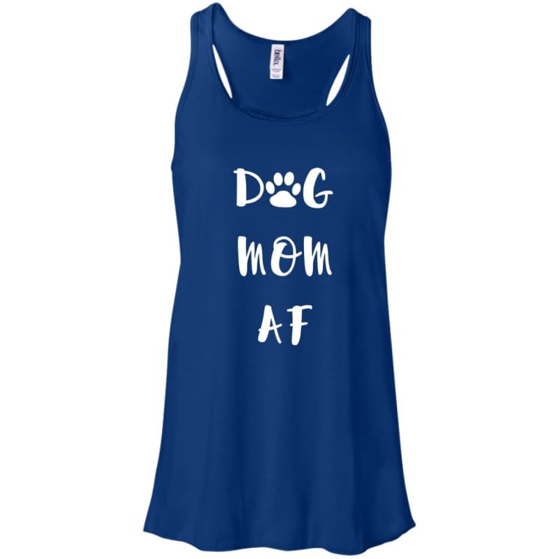 Dog Mom AF Flowy Racerback Tank - Doggsociety