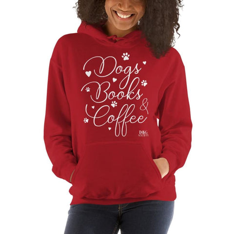 Dogs Books And Coffee Hoodie - Doggsociety