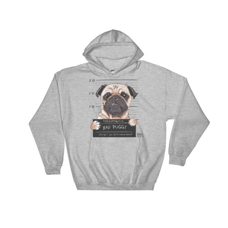 Funny Bad Dogs Bad Puggy Hoodie - Doggsociety