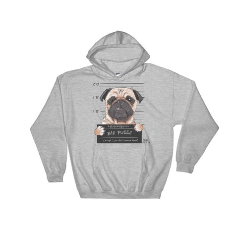 Image of Funny Bad Dogs Bad Puggy Hoodie - Doggsociety