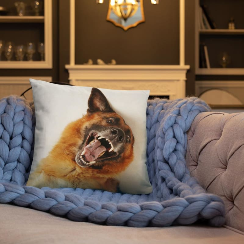 Funny German Shepherd 18x18 Pillow - Doggsociety