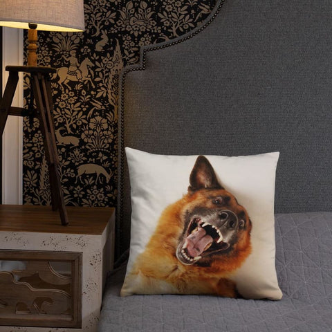 Image of Funny German Shepherd 18x18 Pillow - Doggsociety