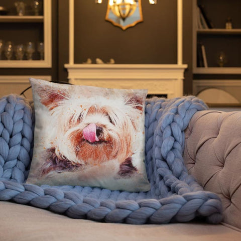 Funny Yorkshire Terrier 18x18 Pillow - Doggsociety