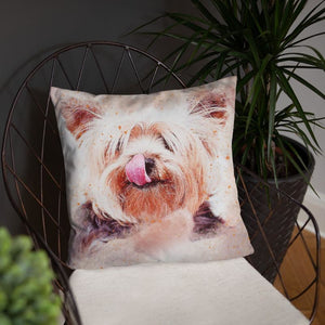 Funny Yorkshire Terrier 18x18 Pillow