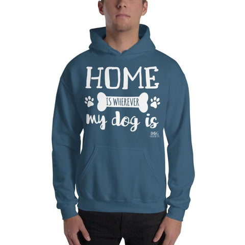 Home Is Wherever My Dog Is Hoodie - Indigo Blue / S - Doggsociety
