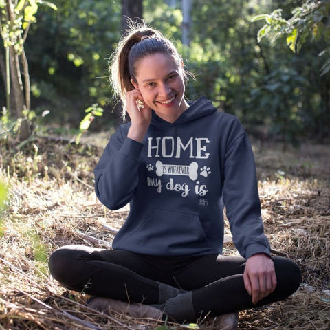 Home Is Wherever My Dog Is Hoodie - Navy / S - Doggsociety