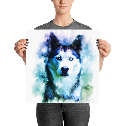 Image of Husky Watercolor Poster - Doggsociety