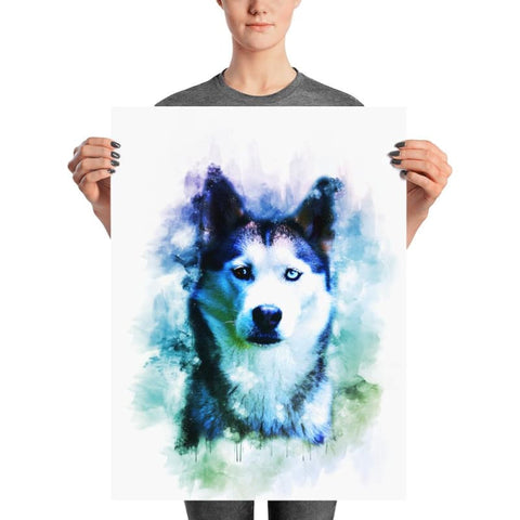 Husky Watercolor Poster - Doggsociety