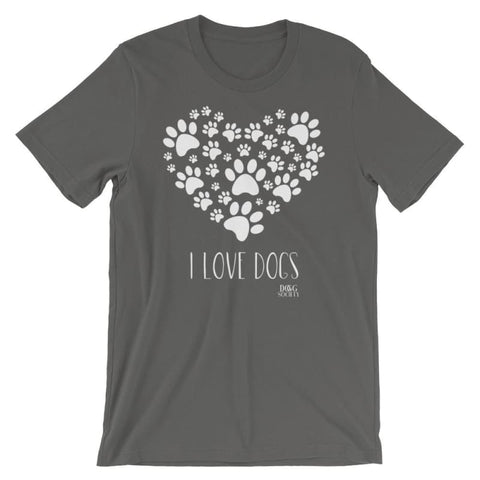 Image of I Love Dogs T-Shirt - Doggsociety