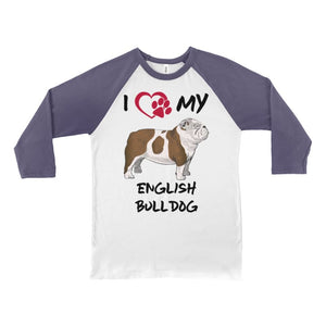 I Love My English Bulldog Long Sleeve Shirt - Doggsociety
