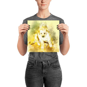 Labrador Puppy Watercolor Poster