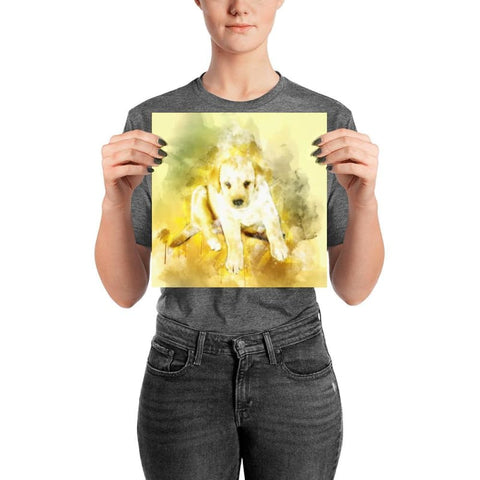 Image of Labrador Puppy Watercolor Poster - Doggsociety