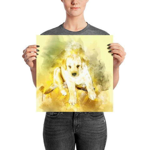 Labrador Puppy Watercolor Poster - Doggsociety