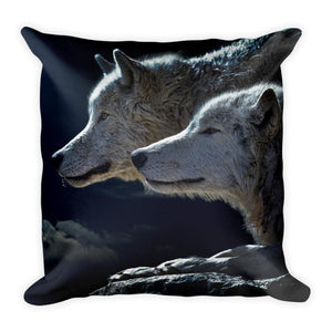 Night Of The Wolves 18x18 Pillow - Doggsociety