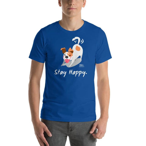 Stay Happy Little Dog T-Shirt - Doggsociety