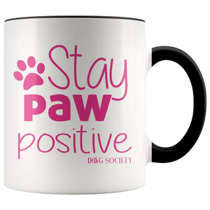 Stay Paw Positive Mug - Doggsociety