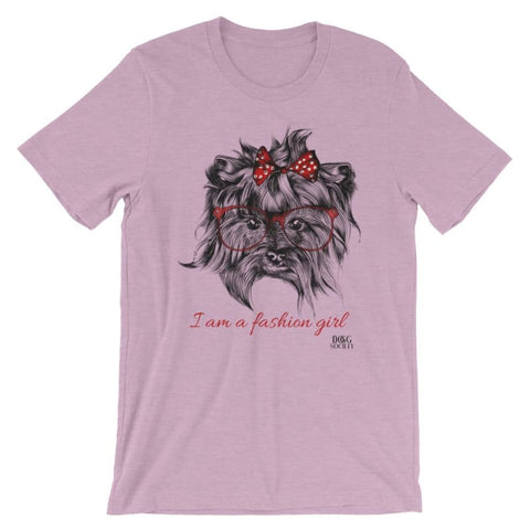 Image of Yorkie Fashion Girl T-Shirt - Doggsociety