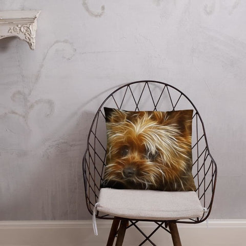 Yorkshire Terrier Art 18x18 Pillow - Doggsociety
