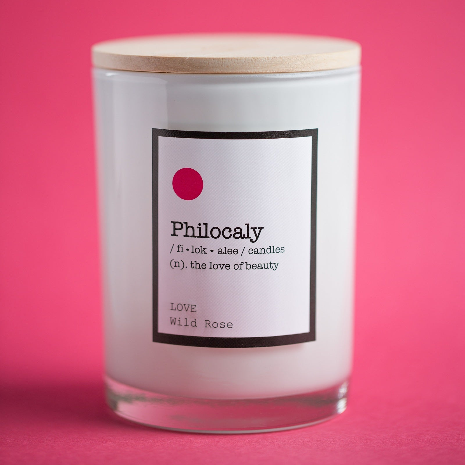 Philocaly Home, Inc Scented Jar Candle – Soy Wax, Recycled Glass – Clean Burn, Long Scent, 9.5oz - Wild Rose