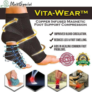 VitaWear™ Copper Infused Magnetic Foot Support Compression