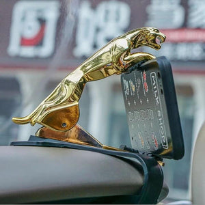 【Get 2 Anti-Rain Car Stickers Free】 Universal 360° Rotating Car Leopard Phone Clip Holder