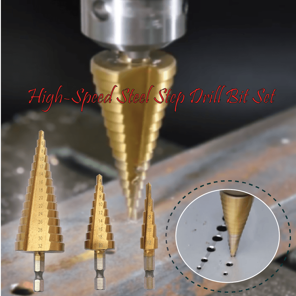 High-Speed Steel Step Drill Bit Set