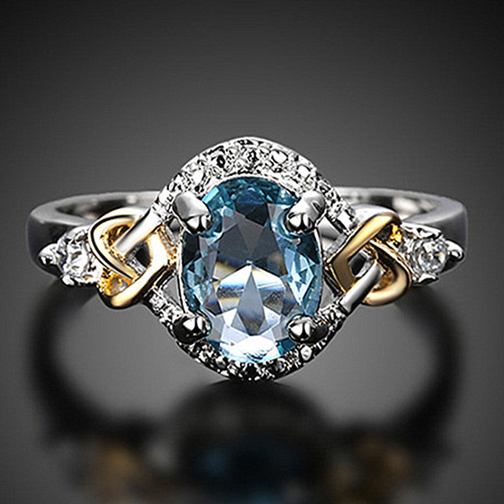 Engagement Ring with Crystal