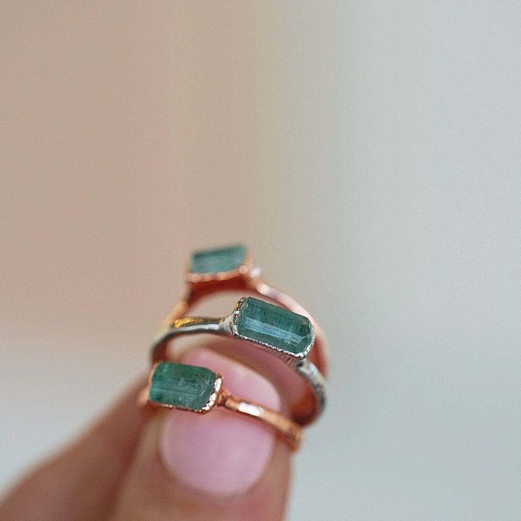 Mint Tourmaline Minimalist Ring