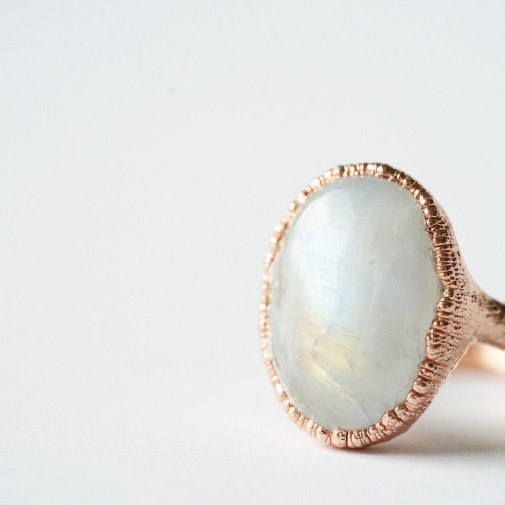 Moonstone Polished Ring