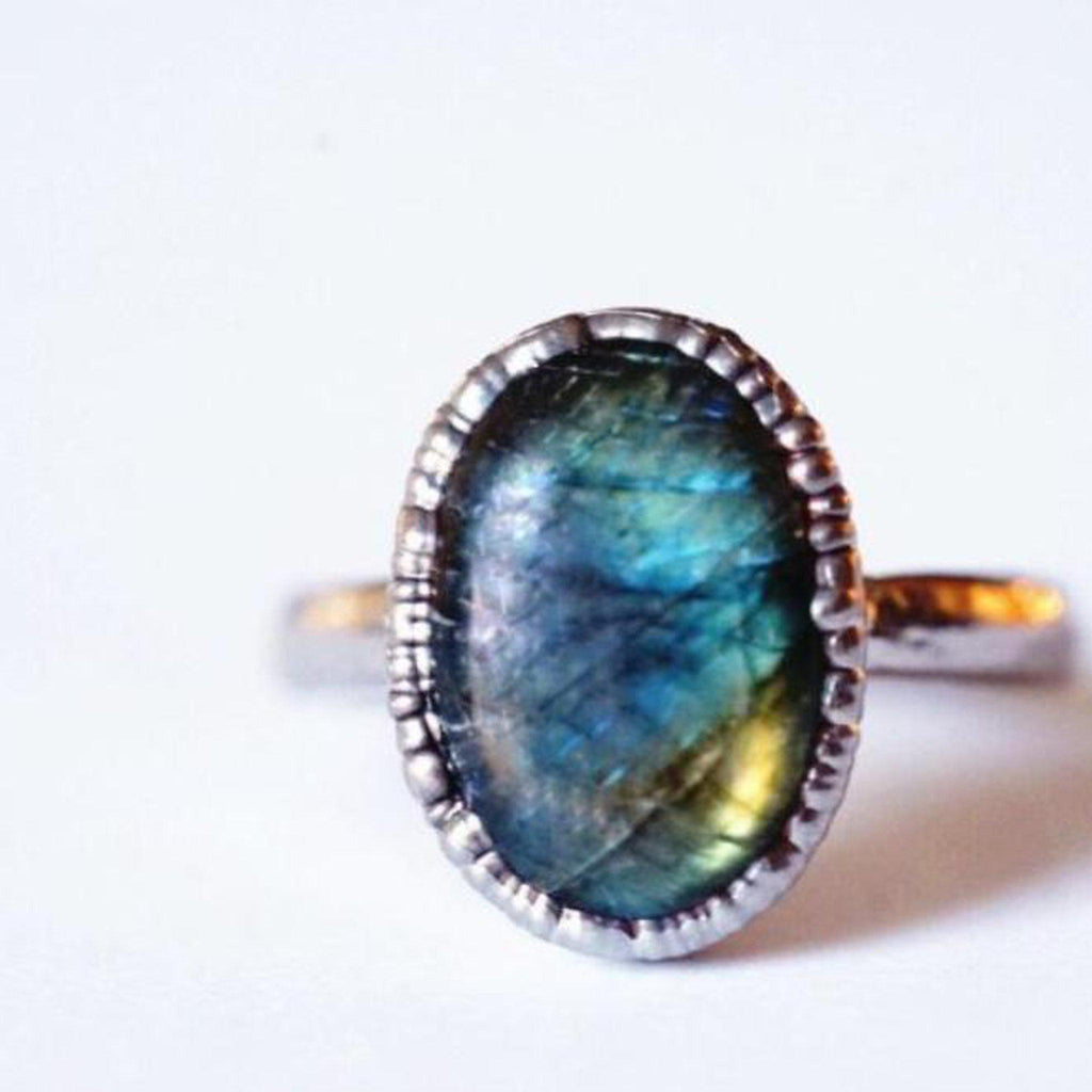 Labradorite Polished Ring