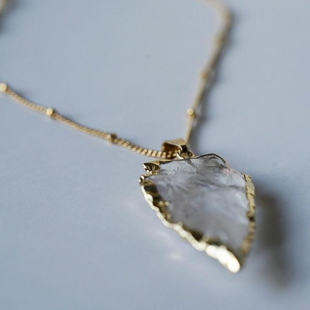 Quartz Arrowhead Necklace