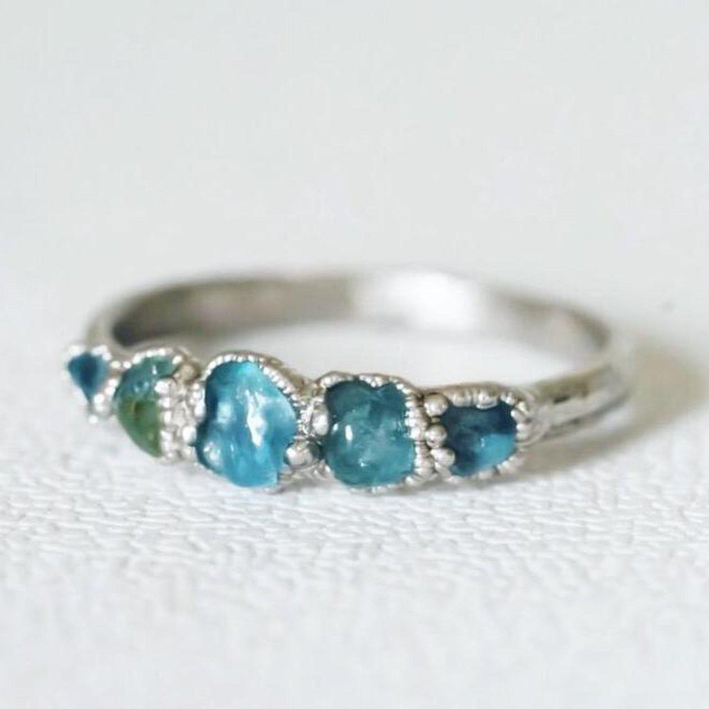 Aquamarine Multi Stone Ring