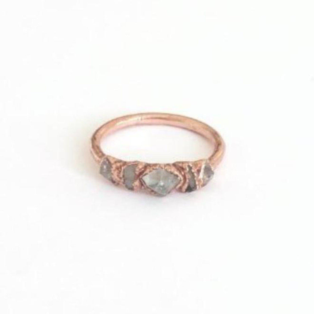 Clear Quartz Multi Stone Ring