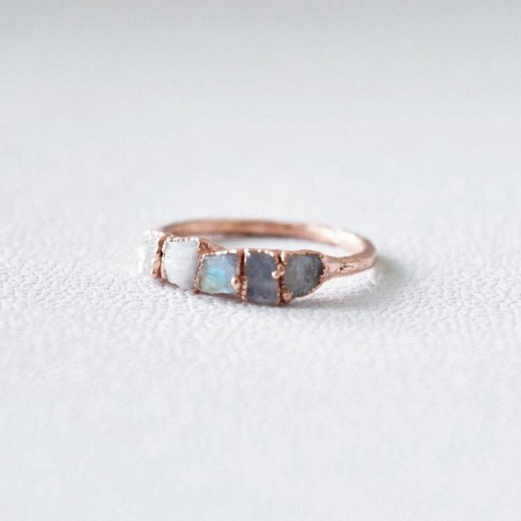 Moonstone Multi Stone Ring