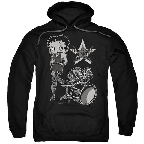 Betty Boop - With The Band Adult Pull Over Hoodie