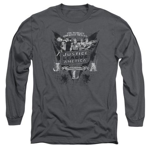 Dc - Greatest Heroes Long Sleeve Adult 18/1
